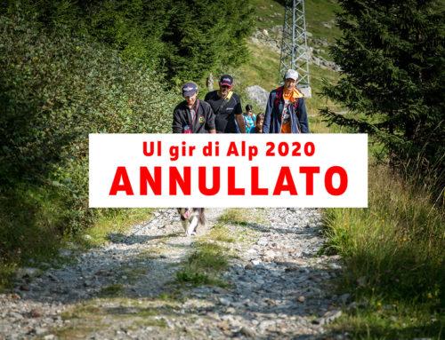 """""""Ul gir di Alp 2020"""" ANNULLATO"""
